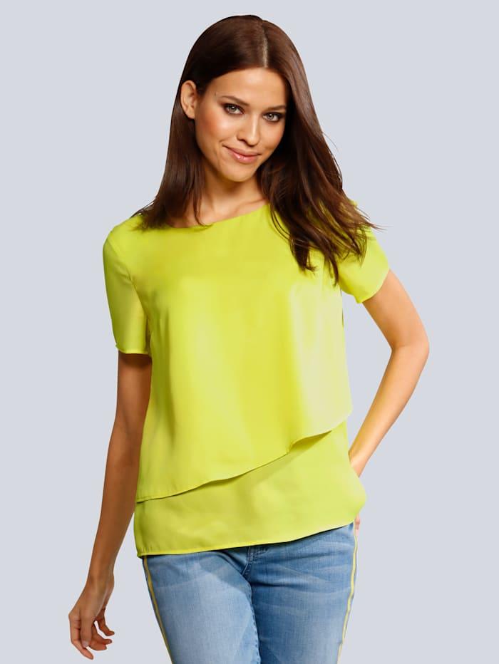 Alba Moda Bluse in sommerlich softer Farbstellung, Limettengrün