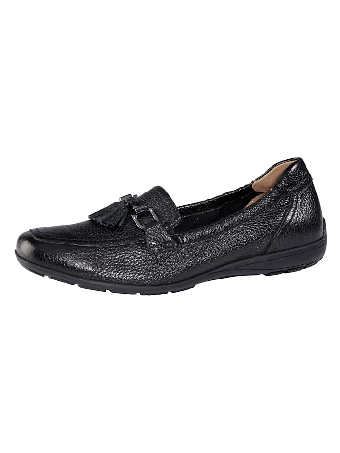 MONA Loafers made from premium leather, Black