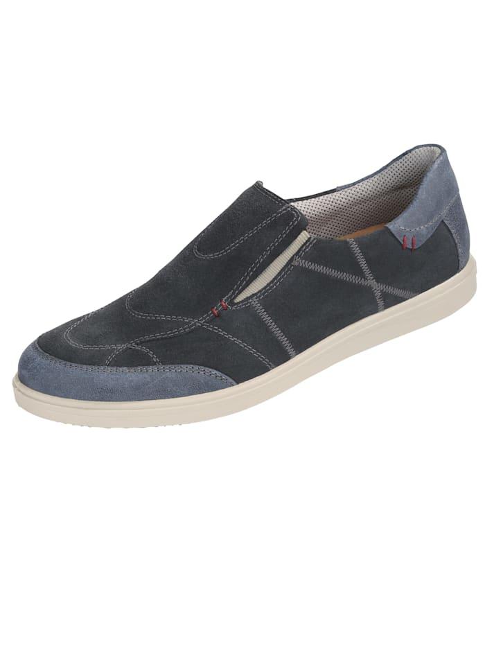 Jomos Slipper obuv s kontrastným ozdobným prešívaním, Modrá