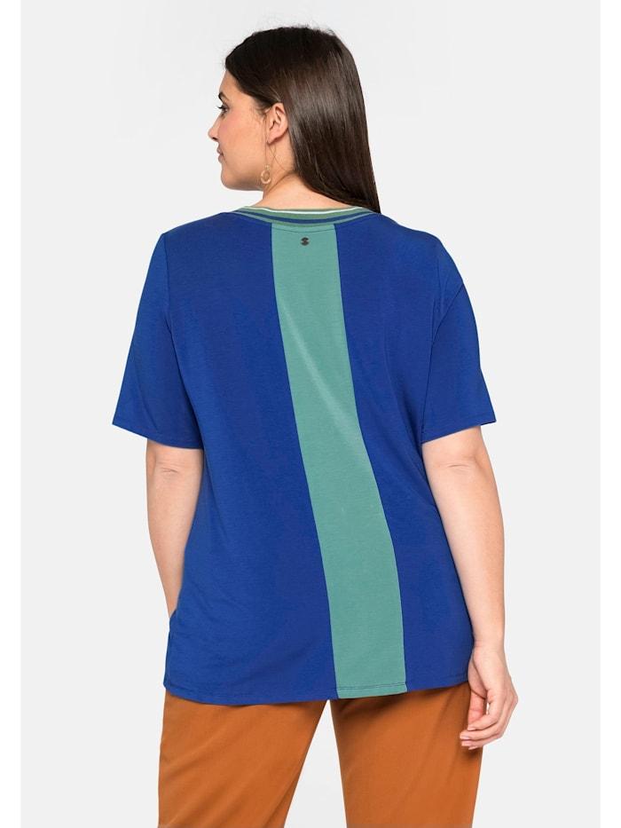 Sheego Shirt mit Rippbund und Zipper
