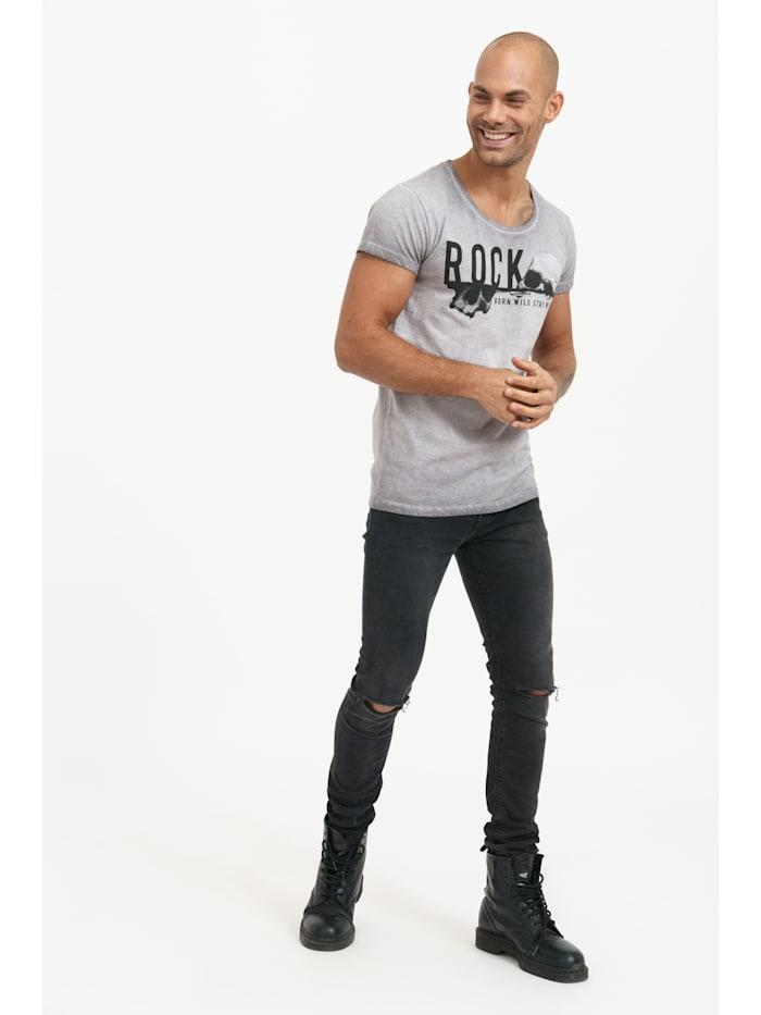 T-Shirt Travis mit Front- und Rückenprint