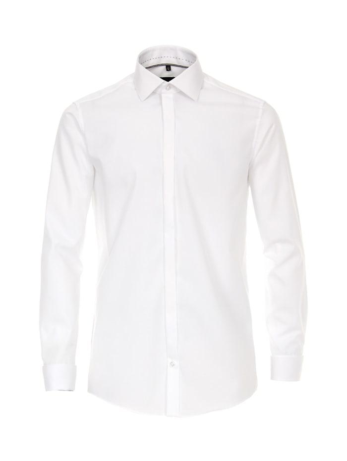 Venti Hemd uni Modern Fit Keine, Weiß