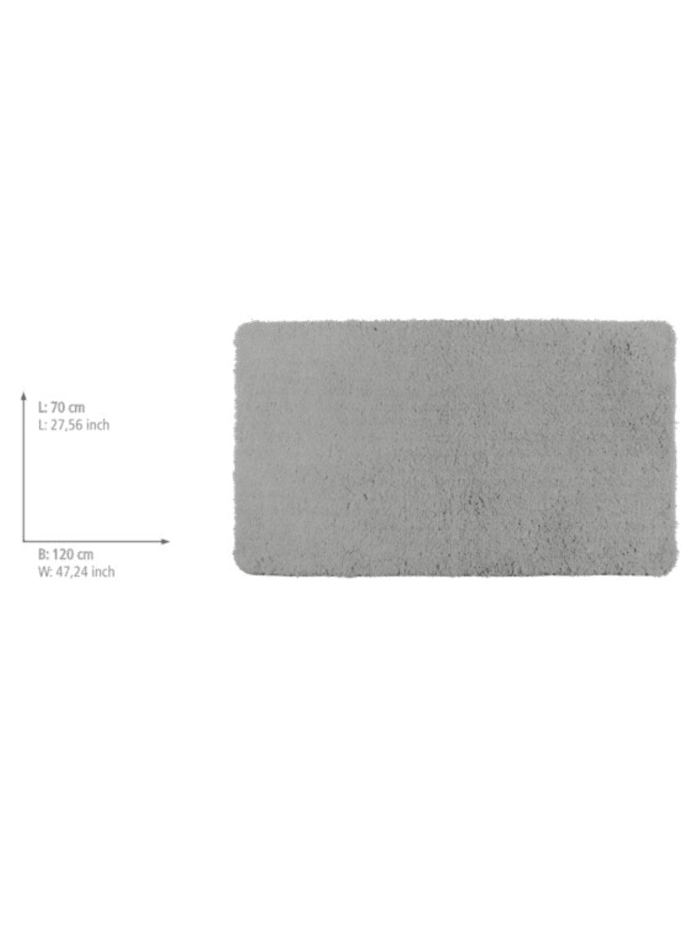 Badteppich Belize Light Grey, 70 x 120 cm, 70 x 120 cm, Mikrofaser