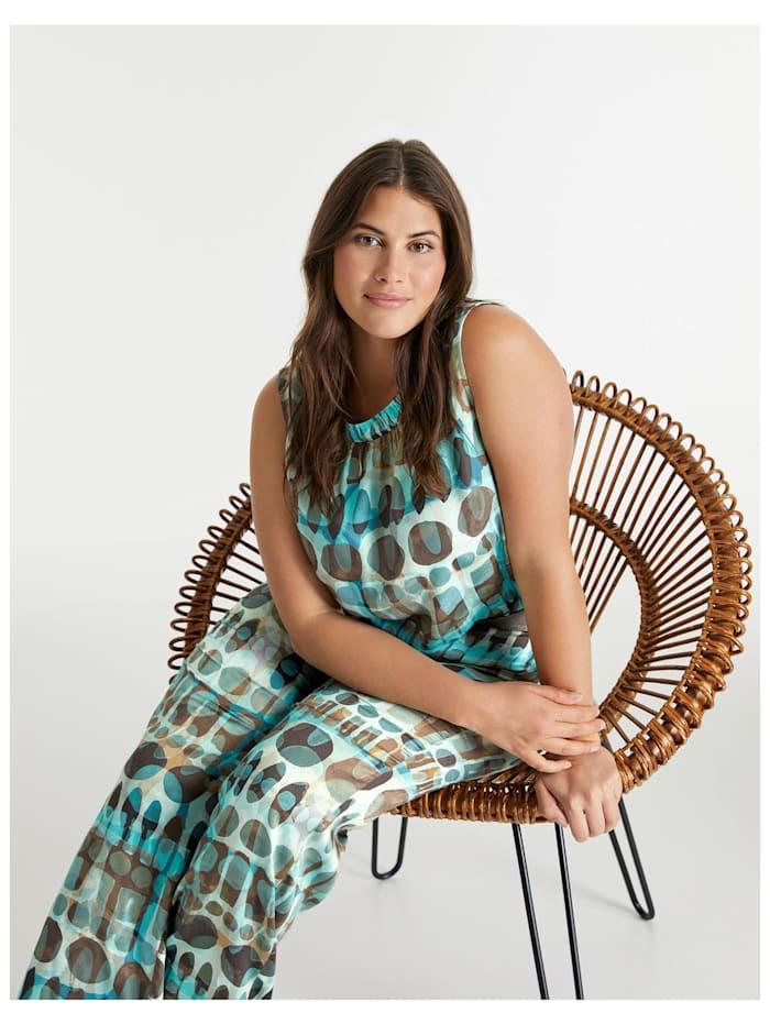 Ärmellose Bluse mit Allover-Print