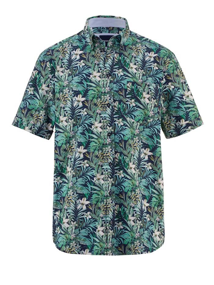 BABISTA Overhemd met 1 borstzak, Marine/Groen