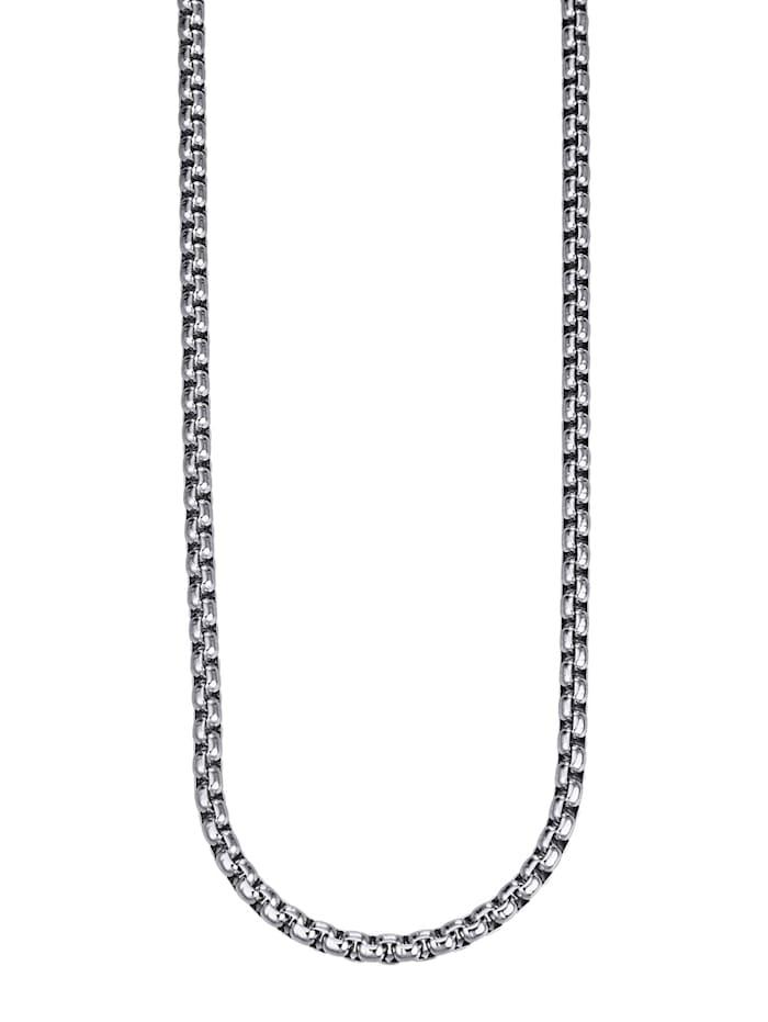 Magnetic Balance Magnethalsband, tät ankarlänk i rostfritt stål, Silverfärgad