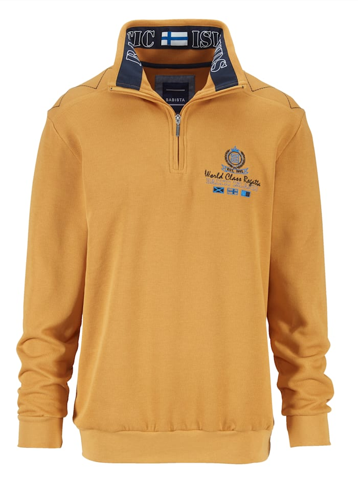 BABISTA Sweatshirt mit aufwändigen Details, Maisgelb
