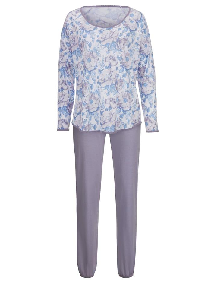 Schlafanzug mit Kontrastpaspelierung