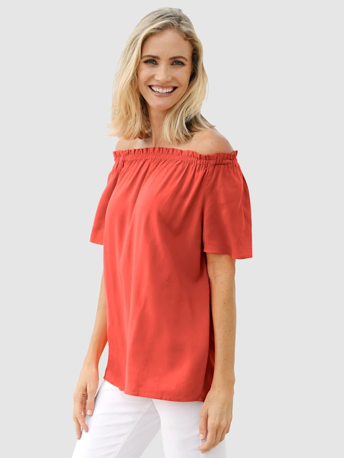 Dress In Tunique en pure viscose, Rouille