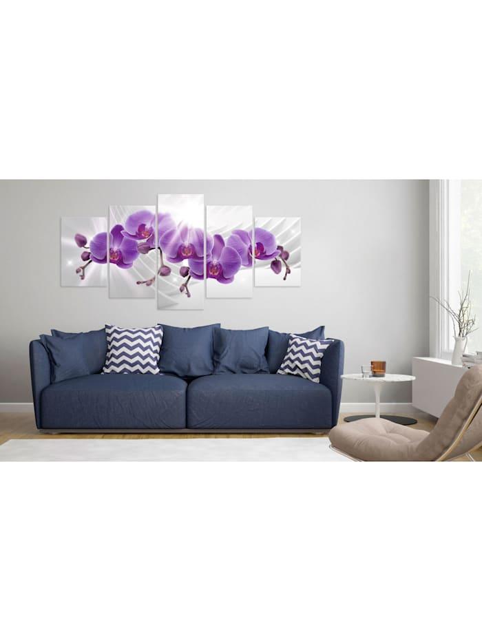 Wandbild Abstract Garden: Purple Orchis