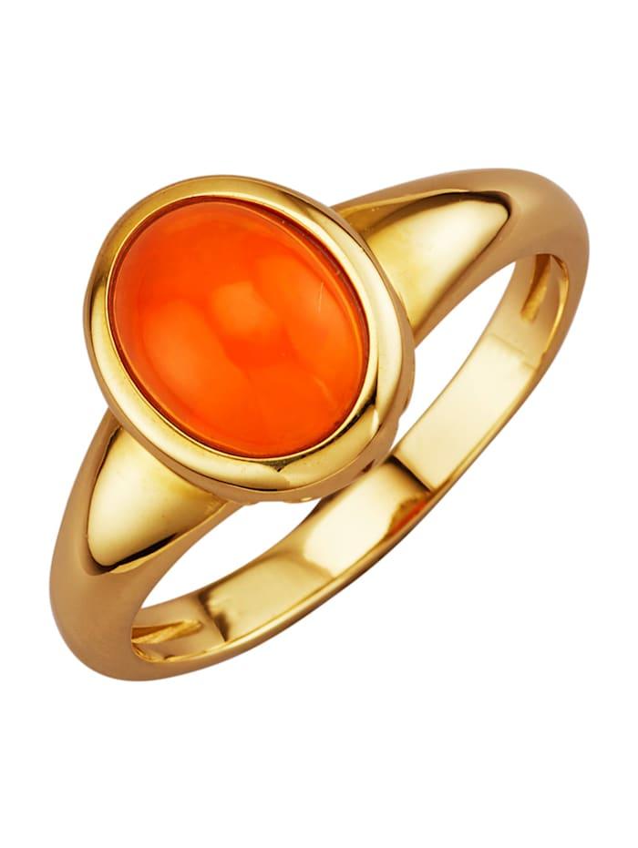 Diemer Farbstein Damenring mit Opal, Orange