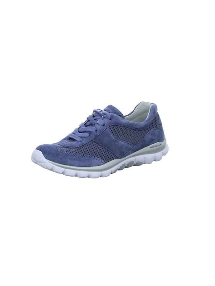 Gabor Damen Schnürschuh in mittel-blau, mittel-blau