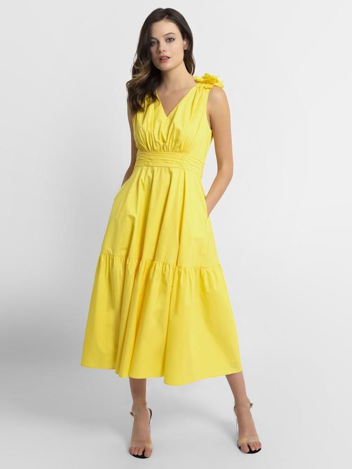 APART Sommerkleid aus leicht raschelnder Baumwolle, gelb