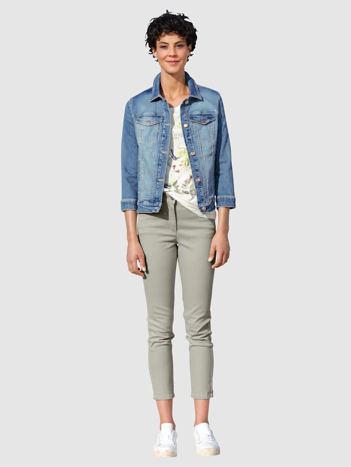 Veste en jean à délavage mode