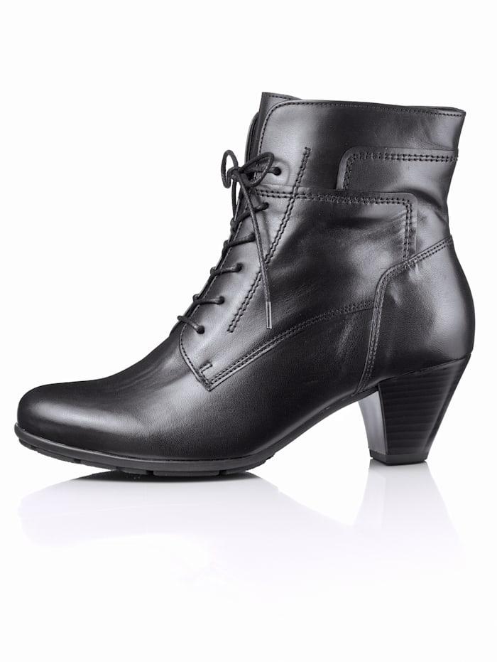 Gabor Bottines lacées style tendance, Noir