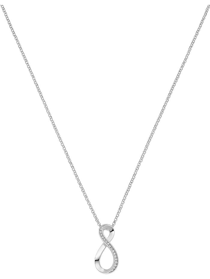 Jette JETTE Damen-Kette 925er Silber rhodiniert 20 Zirkonia, silber
