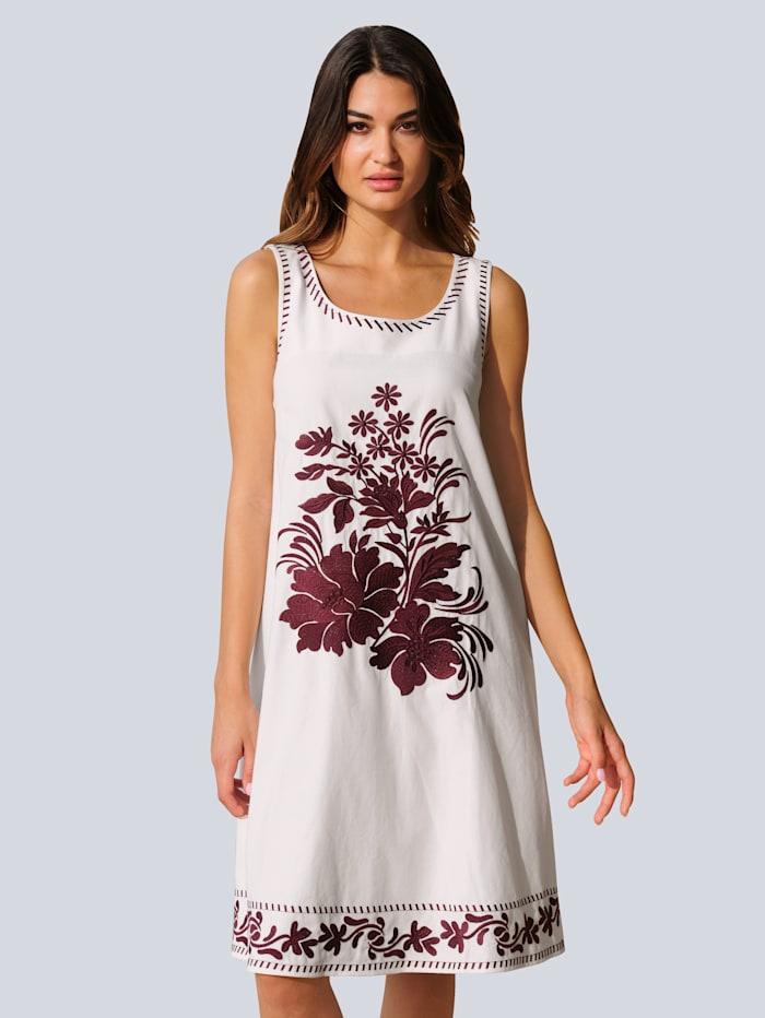 Alba Moda Strandkleid in A-Linie, Creme-Weiß