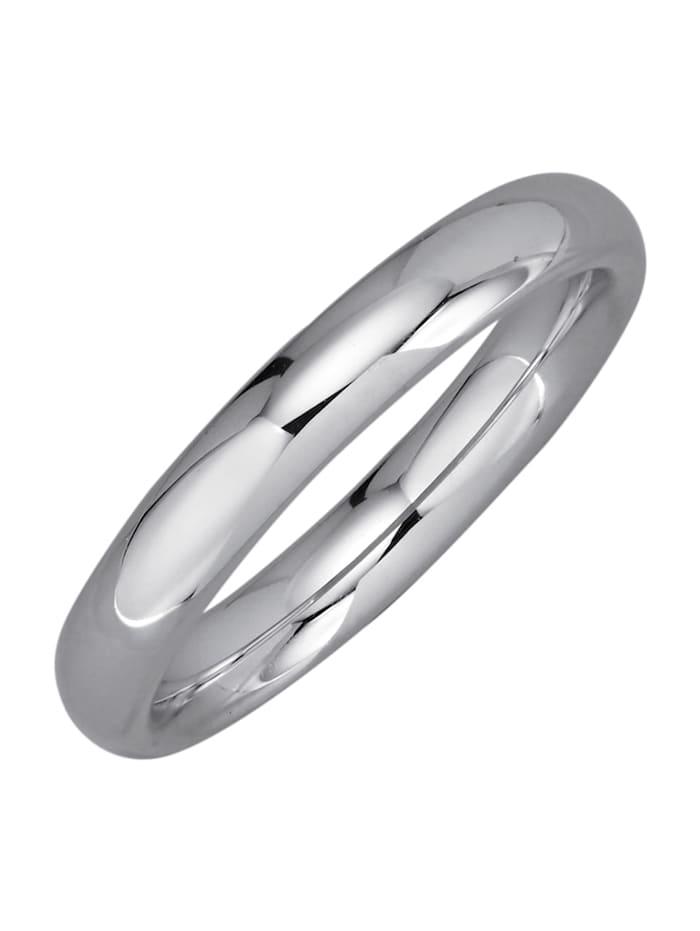 Harmony Trouwring van gerodineerd zilver, Zilverkleur