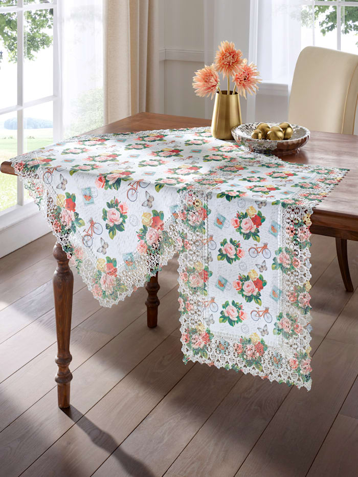 "Webschatz Linge de table ""Liesbeth"", Blanc/multicolore"