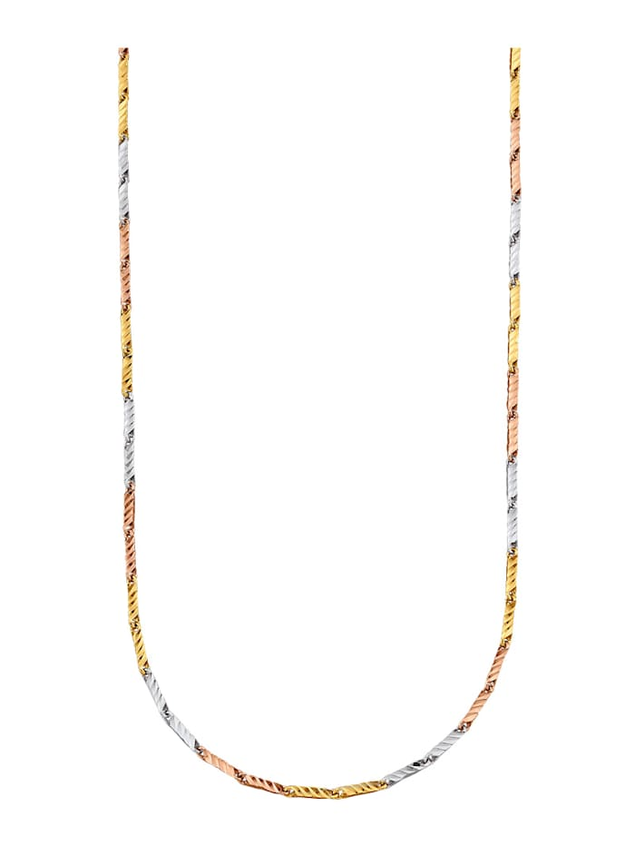 Amara Or Collier Créoles en or 585, Multicolore