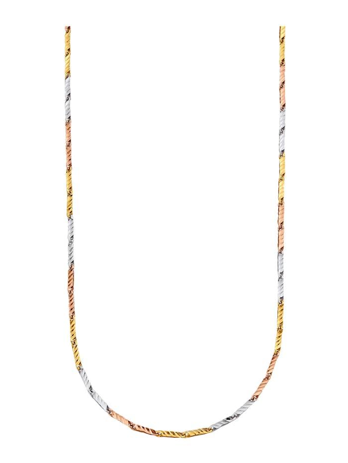 Diemer Gold Halskette in Gold 585, Multicolor