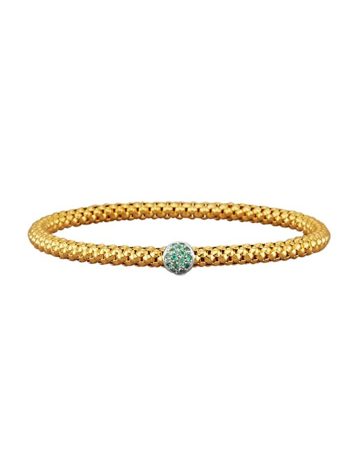 Diemer Farbstein Armband mit Smaragden, Grün
