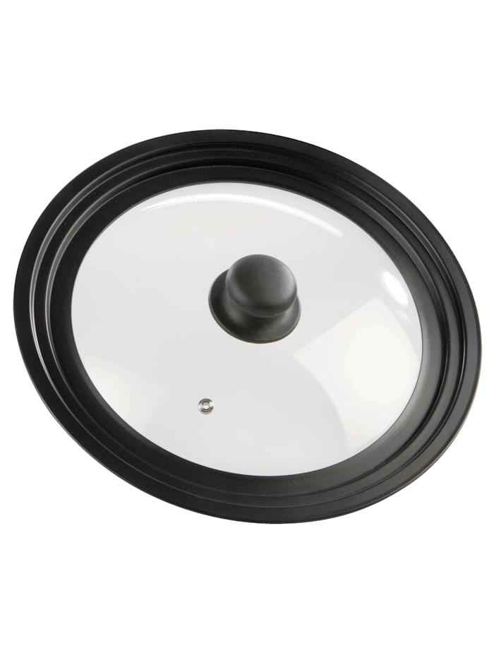 GSW Univerzálna pokrievka 24 - 28 cm, Čierna/Transparentná