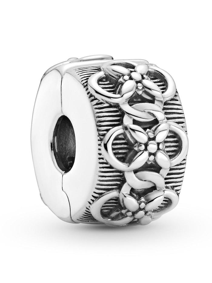 Pandora Clip-Charm -Blumenmuster- 799316C00, Silberfarben