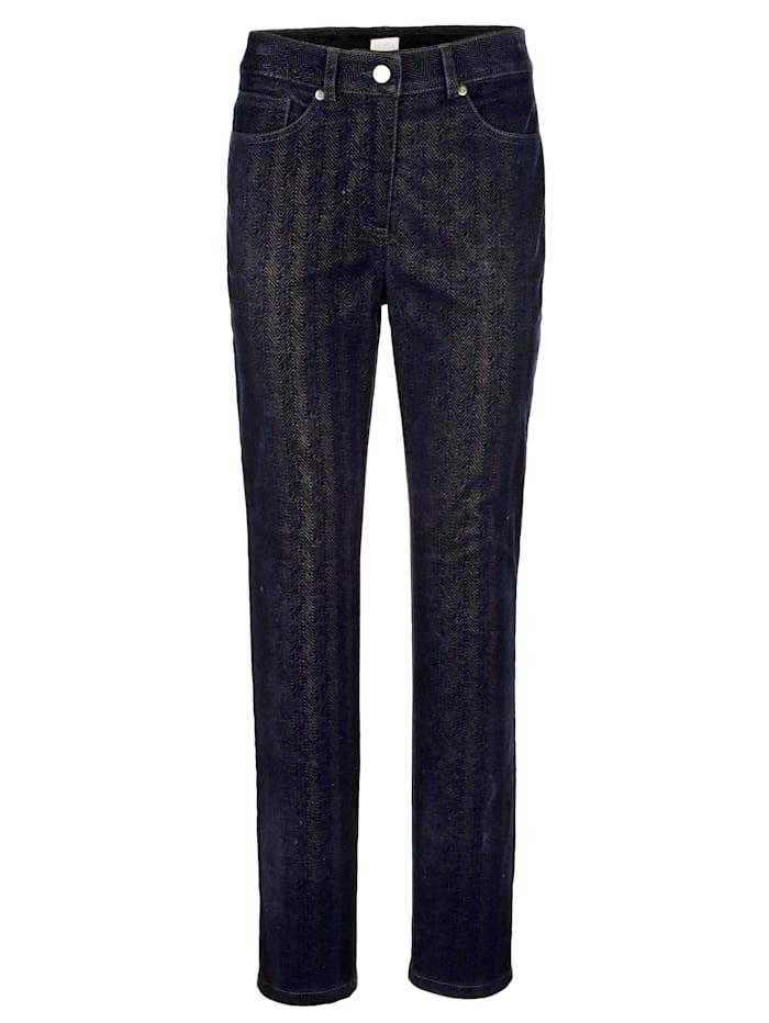 Trousers with a herringbone print