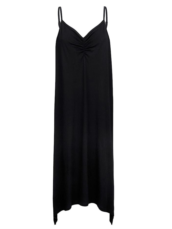 Maritim Strandkleid in Zipfelform, Schwarz