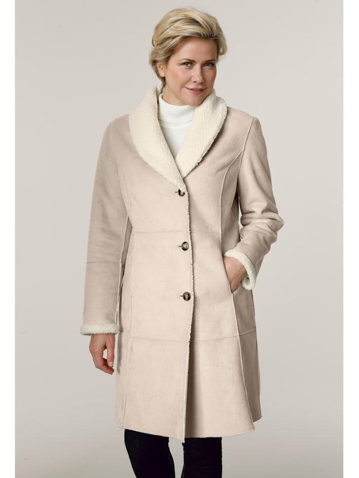 Barbara Lebek Reversible coat, Cream White