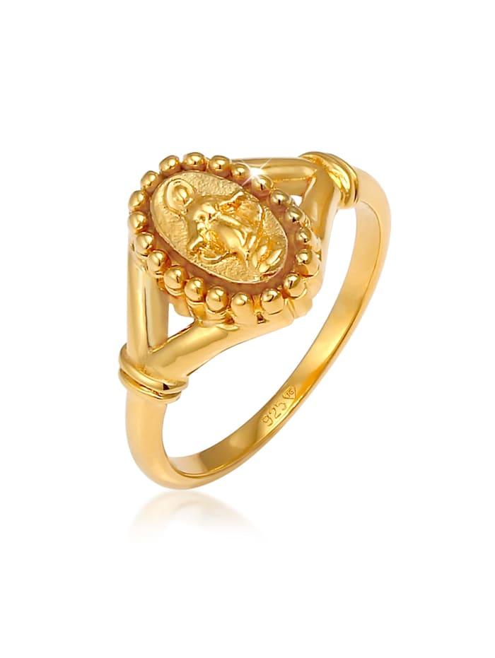 Elli Ring Maria Madonna Symbol Glaube 925 Sterling Silber, Gold