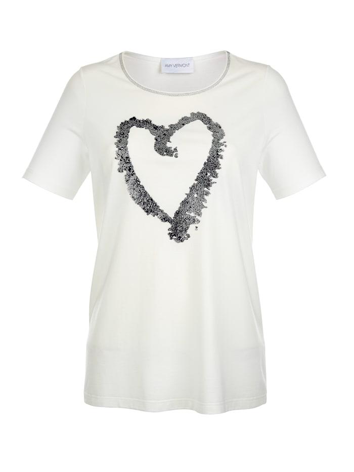 Shirt met siersteentjes voor
