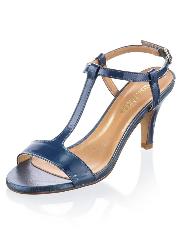 Alba Moda Sandalette aus Rindslackleder, Blau