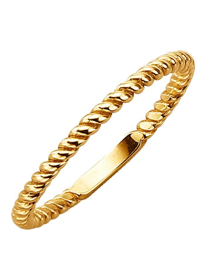 WENZ Damenring in Gold, Gelb