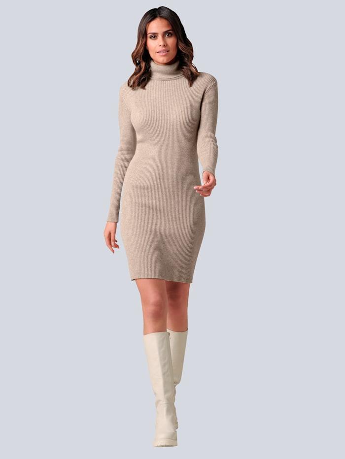 Alba Moda Strickkleid mit hochwertigem Kaschmiranteil, Sand
