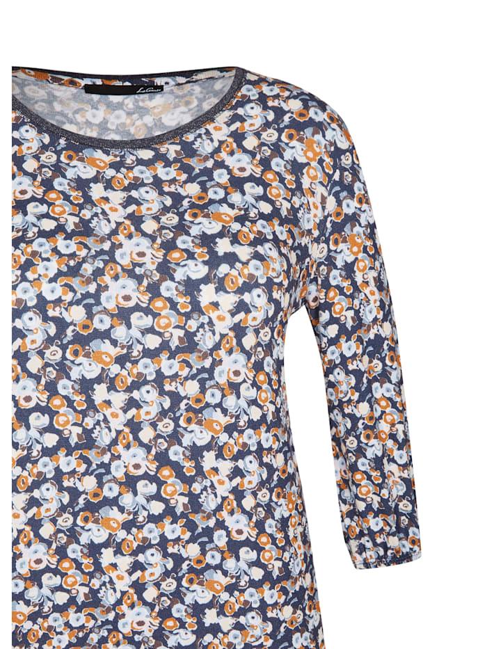 Shirt mit Allover-Muster und überschnittenen Schultern