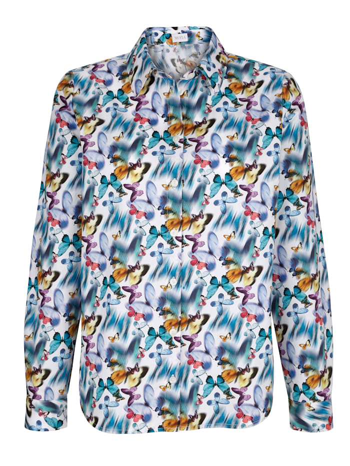 Bluse aus reiner Baumwolle