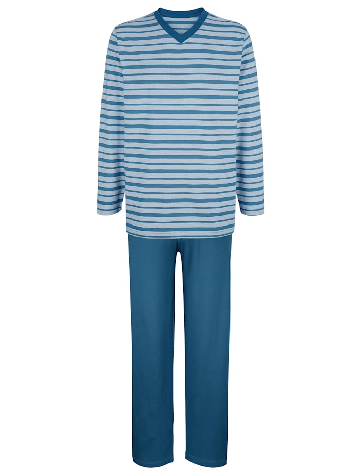 BABISTA Schlafanzug, Hellblau/Weiß