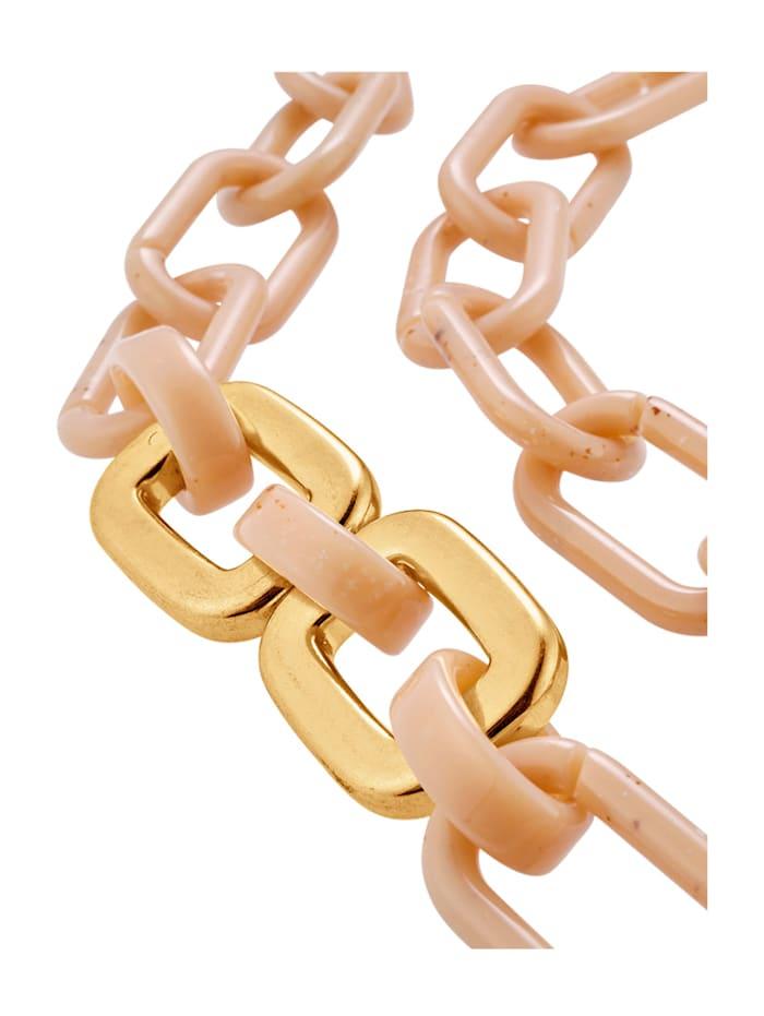 Halskette mit naturfarbenen Elementen, Beige