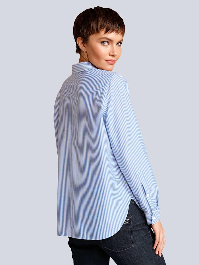 Bluse aus reiner Baumwolle im Streifendessin