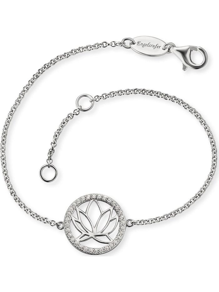 Engelsrufer Engelsrufer Damen-Armband Lotus 925er Silber rhodiniert 32 Zirkon, silber
