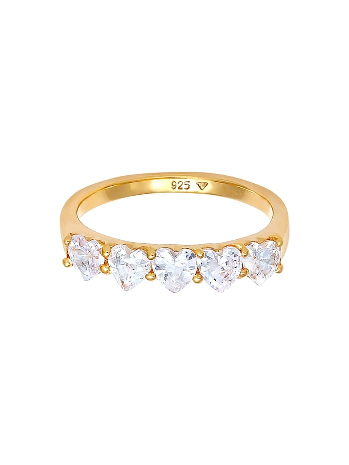 Ring Herz Zirkonia Memoire Verlobung 925 Silber