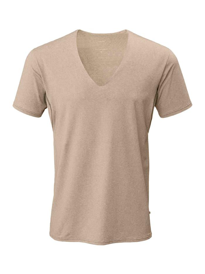 Calida Business Shirt mit Frackschnitt, clean cut Made in Europe, bronce