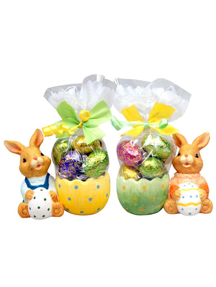 Pfeiffer & Sperl Set van 2 eierdopjes Haas, Multicolor