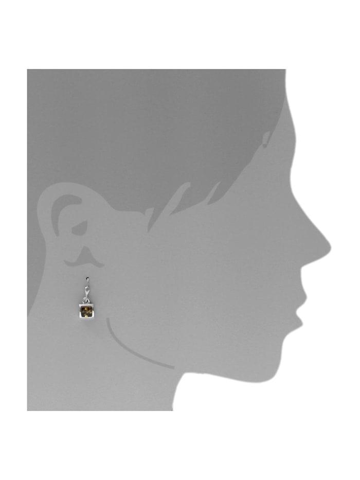 Ohrhänger - Astrid 6x6 - Silber 925/000 - Bernstein