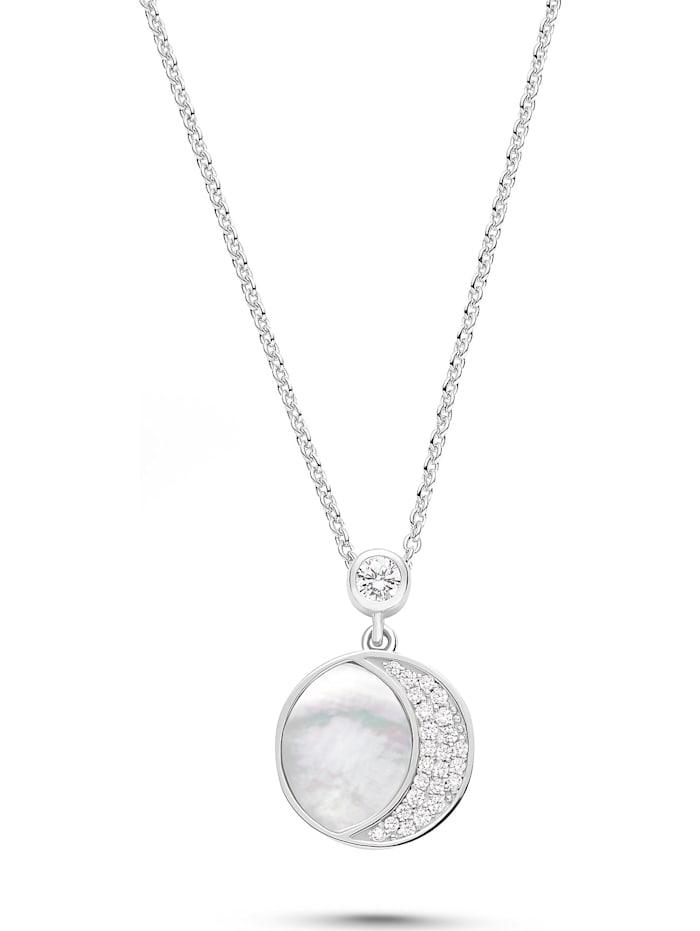 Jette JETTE Damen-Kette 925er Silber Perlmutt, silber