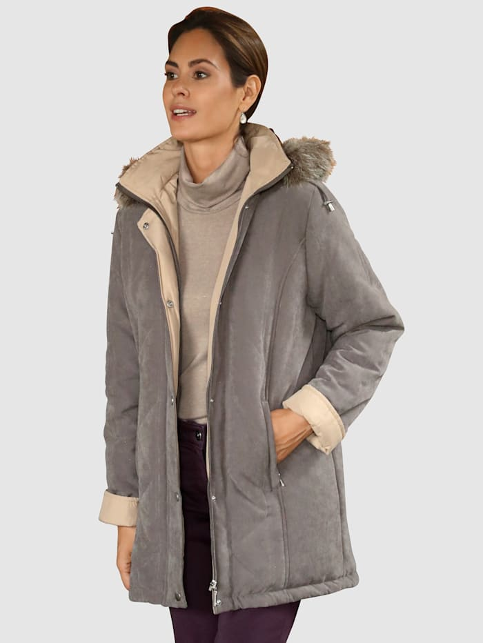 Paola Jacke in Microfaser Qualität, Taupe