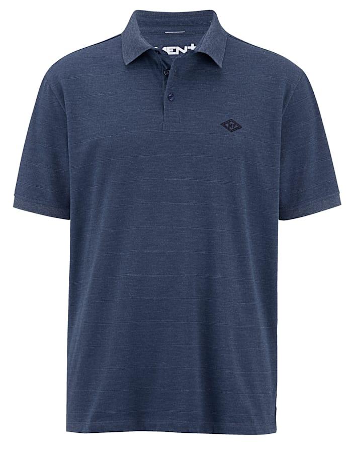 Men Plus Poloshirt mit Umlegekragen, Marineblau
