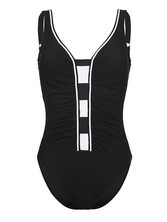 Sunflair Badeanzug mit Figurformung, Schwarz